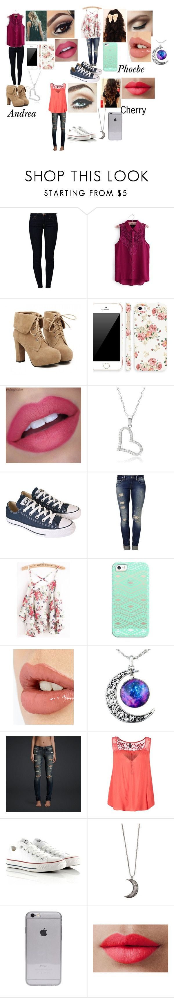 """""""Max Thunderman"""" by savannah-frisby ❤ liked on Polyvore featuring 7 For All Mankind, TURNOVER, Retrò, Tressa, Converse, Mavi, Casetify, Charlotte Tilbury, Hollister Co. and Naf Naf"""
