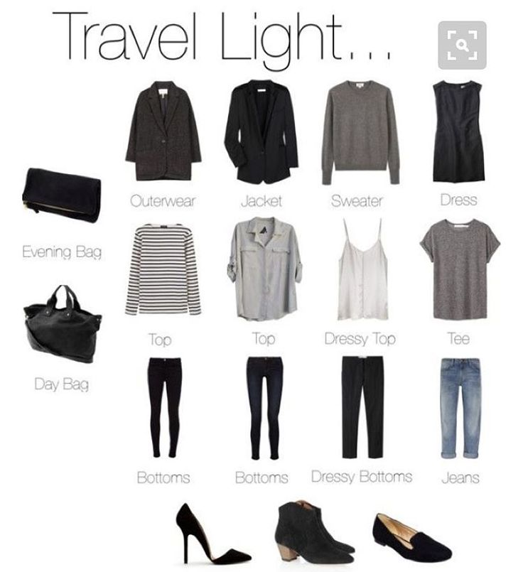 """""""That awkward moment when a """"how to travel light"""" pin basically sums up your entire dream wardrobe"""