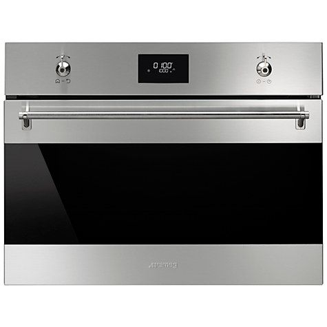Smeg Sf4309mx Clic Compact Microwave Oven With Grill Stainless Steel Online At Johnlewis