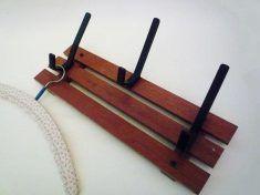 Vintage Teck Coat Rack with 3 Hooks