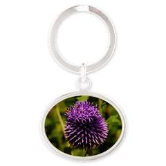 Purple Thistle Keychains
