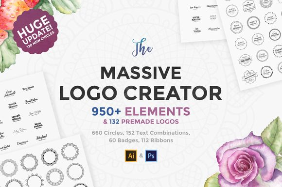 The Massive Logo Creator by AlienValley on @creativemarket