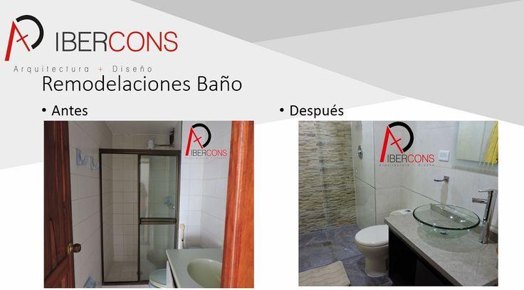 Remodela tu baño con Ibercons Arquitectura + Diseño, manejamos diversos presupuestos y las ultimas tendencias en diseño de interiores. Consúltanos en: www.ibercons.com.co  #FelizMiercoles
