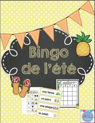 La fin de l'année approche et vous cherchez des activités amusantes et enrichissantes pour vos élèves? Voici un Bingo de l'été qui permettra à vos élèves de réviser les mots de vocabulaire de l'été et des vacances. Ce bingo offre la chance aux élèves de créer leur propre planche de jeu. Ils révisent ainsi le vocabulaire!