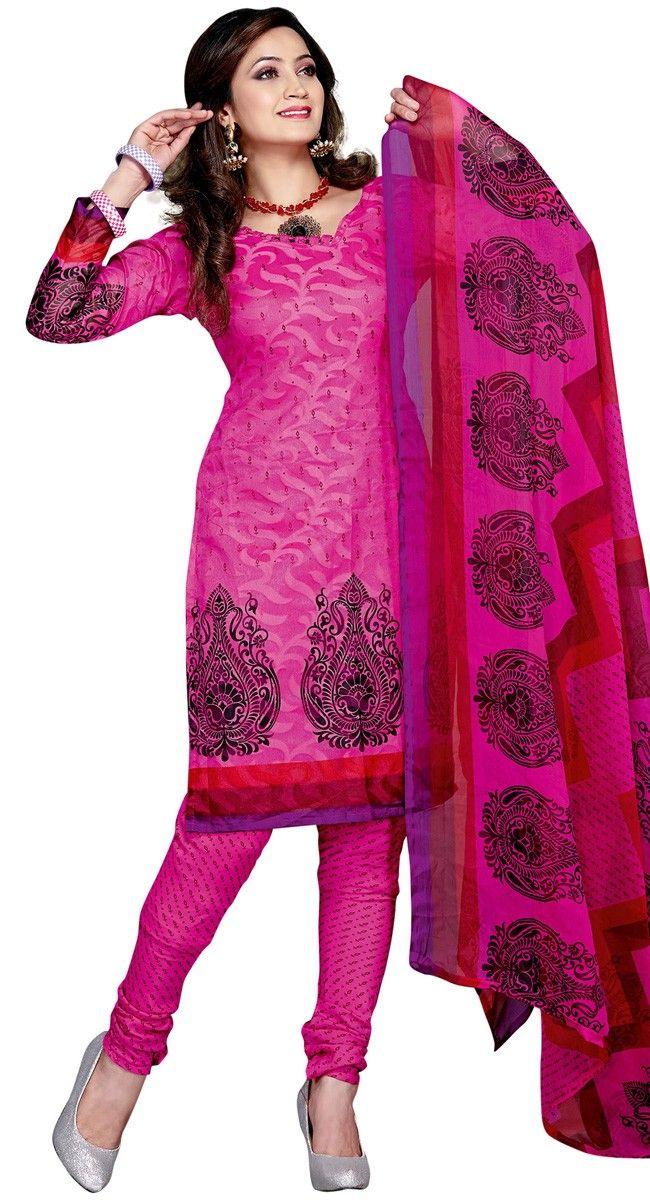 Plushy Magenta Printed #Salwar #Kameez