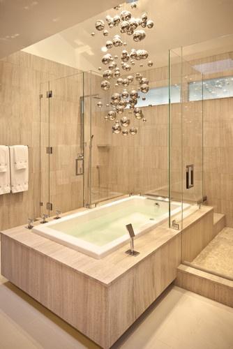 Master Bathroom Tub & Showers - contemporary - bathroom - los angeles - Dayna Katlin Interiors