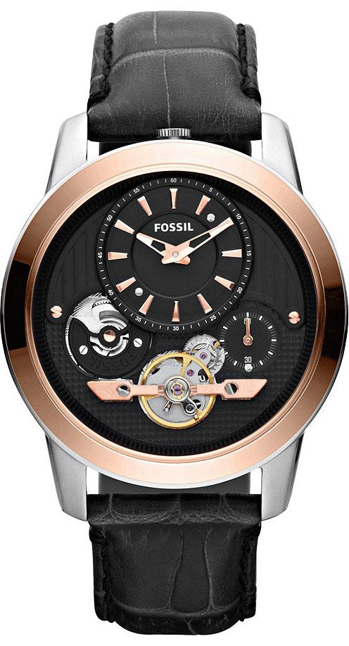 Fossil Watches, Men's Grant Twist Leather Watch Black #ME1125