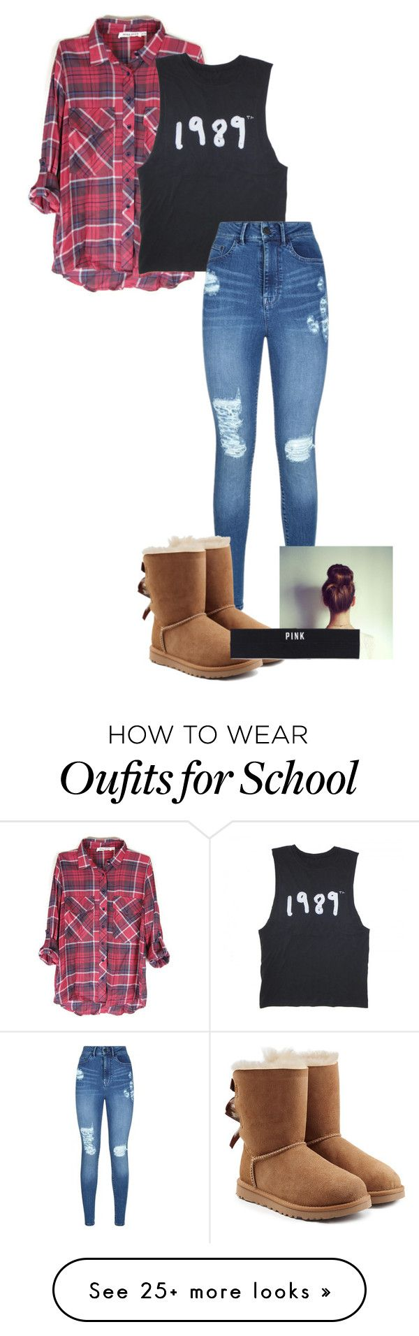 """School"" by cassidycraig1 on Polyvore featuring Lipsy, UGG Australia and Victoria's Secret PINK"
