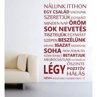 Nálunk itthon : Idézetek - KaticaMatrica.hu - A minőségi falmatrica és faltetoválás webáruház