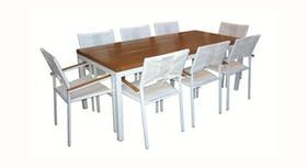 Tromonto Dining Set  Contemporary, Upholstery  Fabric, Metal, Wood, Dining Room Table by Costantini Design
