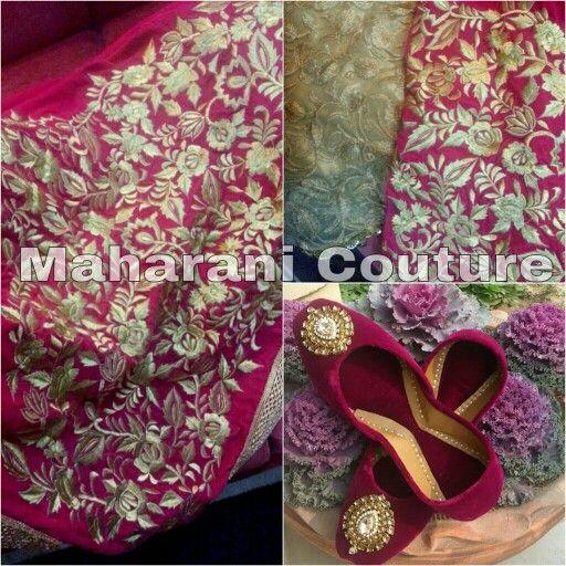 Zari and tilla work by maharani couture