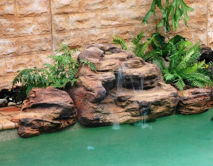 The Tropicana pool waterfalls kit is a smaller waterfalls and makes an excellent centerpiece for the smaller pool landscape. Great for the DIY home owners because of how easy it is to move and install. All of our pool waterfalls are very affordable and are artificial rocks made real.