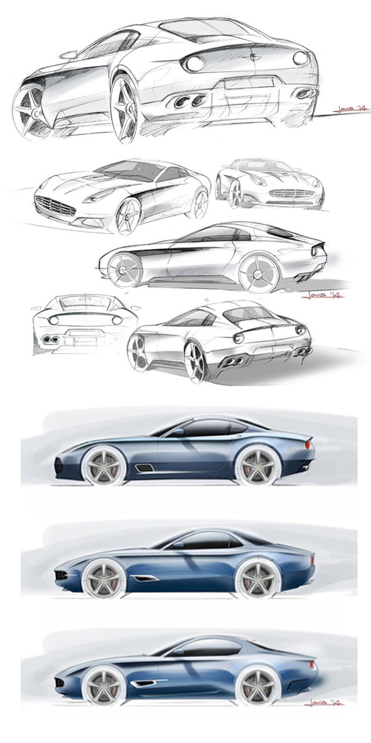 Touring Berlinetta Lusso - Design Sketches