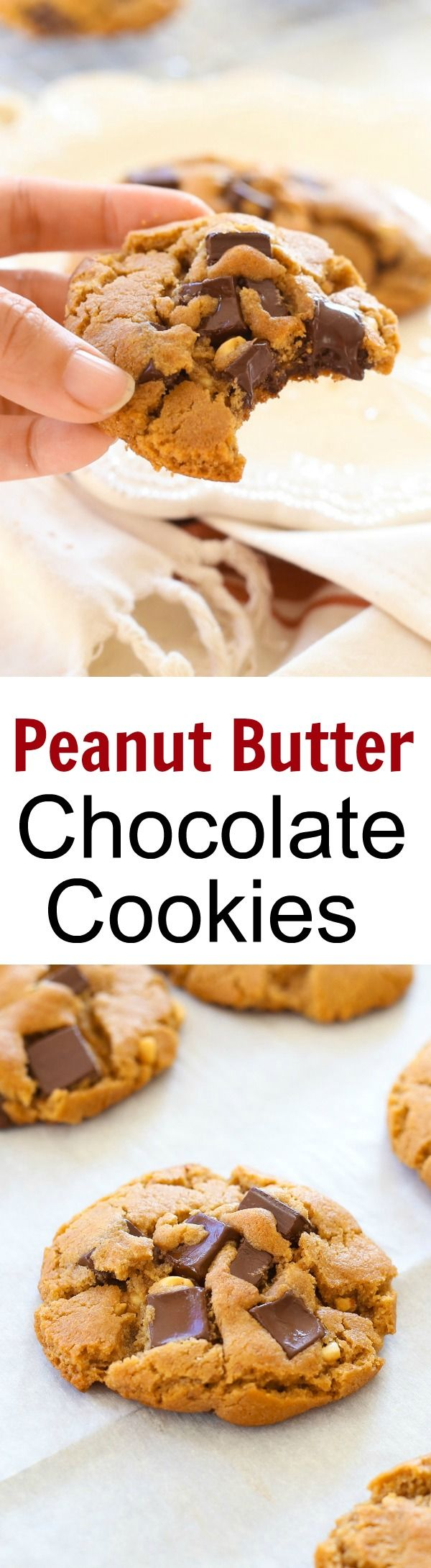 Peanut Butter Dark Chocolate Cookies  C buttery cookies loaded with chocolate and peanut butter  So delicious you can  t stop eating   rasamalaysia com