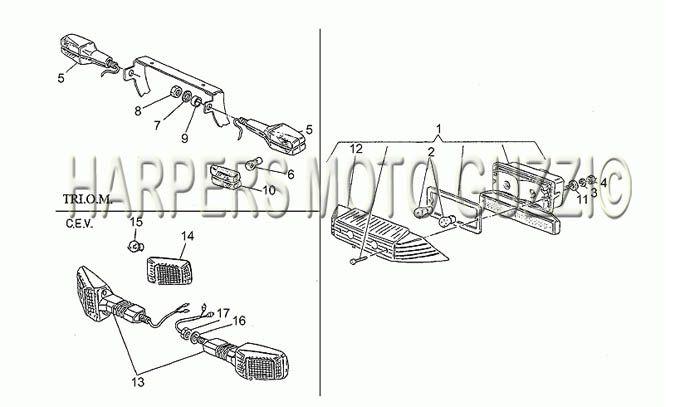 Parts Lookup :: 1980-89 Moto Guzzi's :: Le Mans 1000 1983-1994 :: TAILLIGHT - Categories