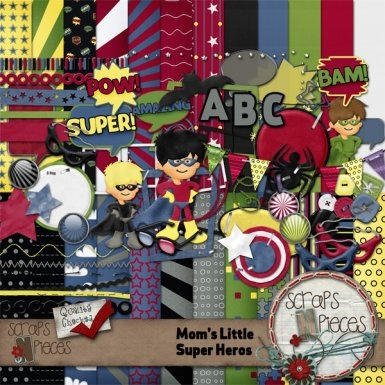 $5.99 for this super cute superhero kit, but you can get it for $2.50 this week or get it FREE with our download a day on our blog http://www.scrappinwithlori.blogspot.com