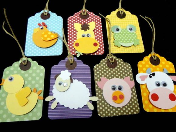 Lindinhos e divertidos convites individuais!!!!! POdem ser utilizados como tags para as lembrancinhas, ou enfeite para decoração!!!! Toda a bicharada da fazenda comparecendo!!!! R$ 4,00