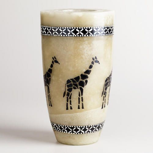 One of my favorite discoveries at WorldMarket.com: Large Walking Giraffe Candle