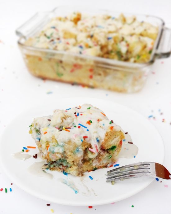 Shut the front door.....Funfetti Cake Batter French Toast Casserole!!