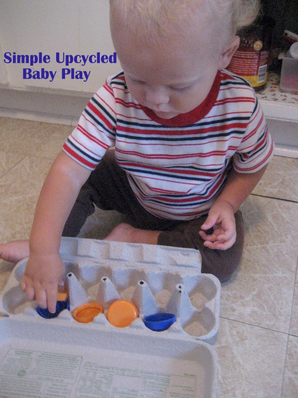 Simple Ideas for Baby Play at Home #2 - Upcycle!! #baby #play