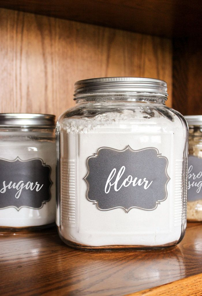 Flour And Sugar Canisters You Can Make Yourself Cleverly Simple Flour Storage Container Canisters Diy Flour Storage