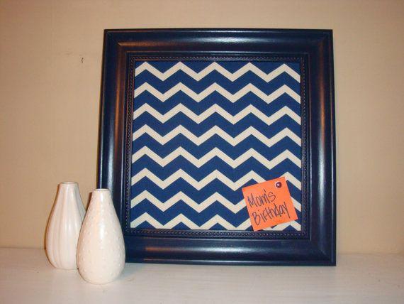 Framed chevron fabric cork board 16x16 cork bulletin for Modern cork board