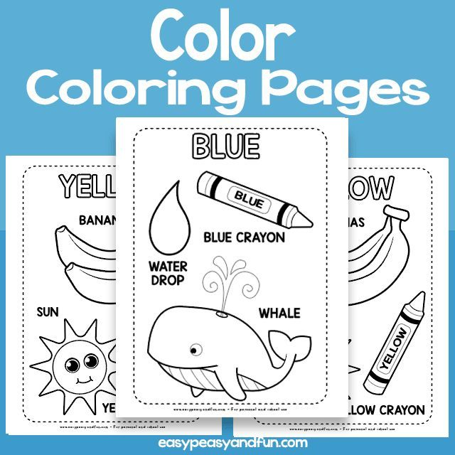 Color Coloring Pages Learning Colors Learning Colors School Activities Kids Worksheets Printables
