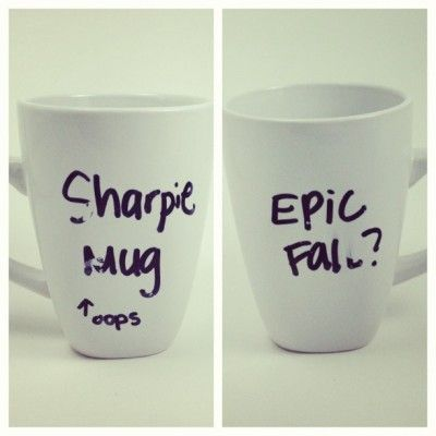How to do the sharpie mug with best chance of success.