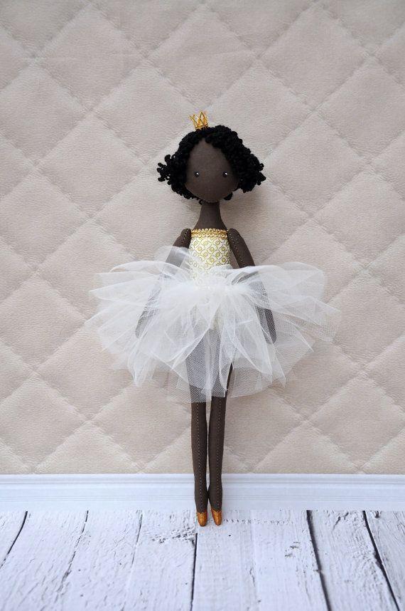 princess dollballerina DollTextile doll decorative от NilaDolss