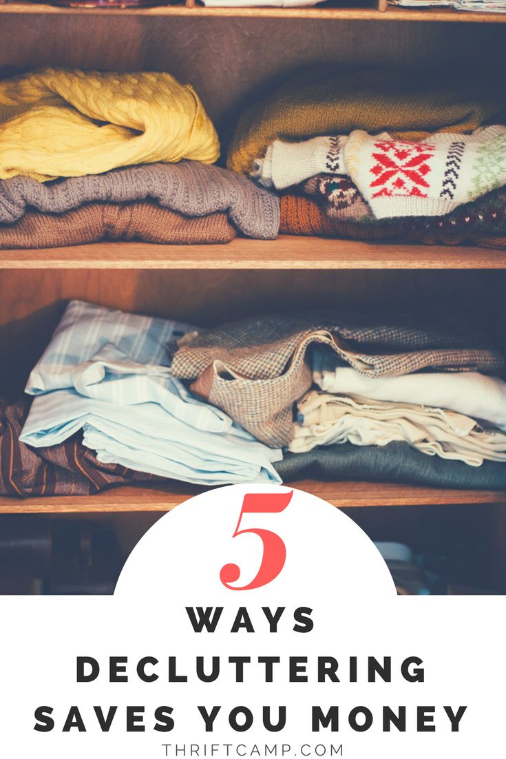 decluttering – it's something that we dread, yet is also good for us. I will be trying to follow all of their advice! Being a frugal fanatic causes me to be a bit of a pack rat, because I have trouble getting rid of anything that might be useful, ever,for the rest of my life! If there is a financial upside, I'm more likely to be cooperative with the de-cluttering process. So I'm going to list some of the ways that decluttering can save, or even make you money. #declutter #organize…