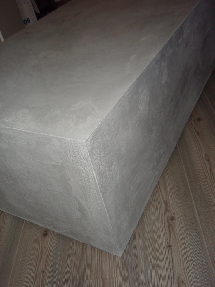Beton cire over mdf