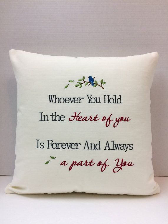 Embroidered Memory Pillow Sympathy Gift by CustomMadeByPam on Etsy