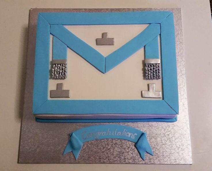 Masonic Apron Cake
