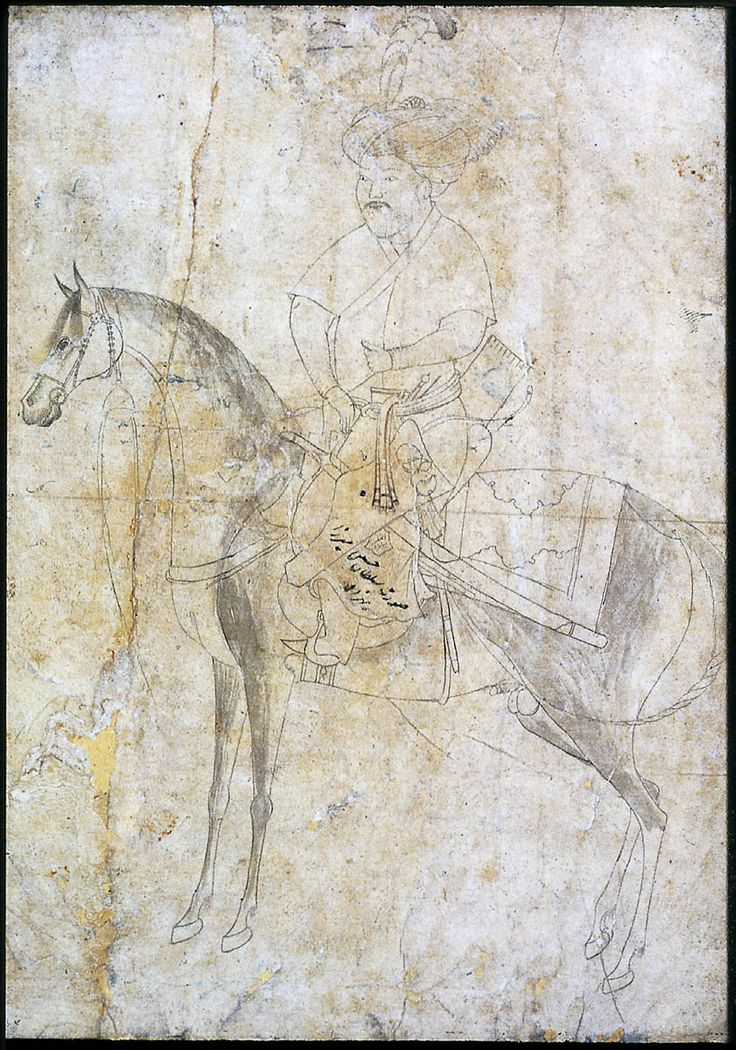 Sultan Husain Mirza on Horseback Persian Timurid Period late 15th century Ascribed to Bihzad (Persian Persian)