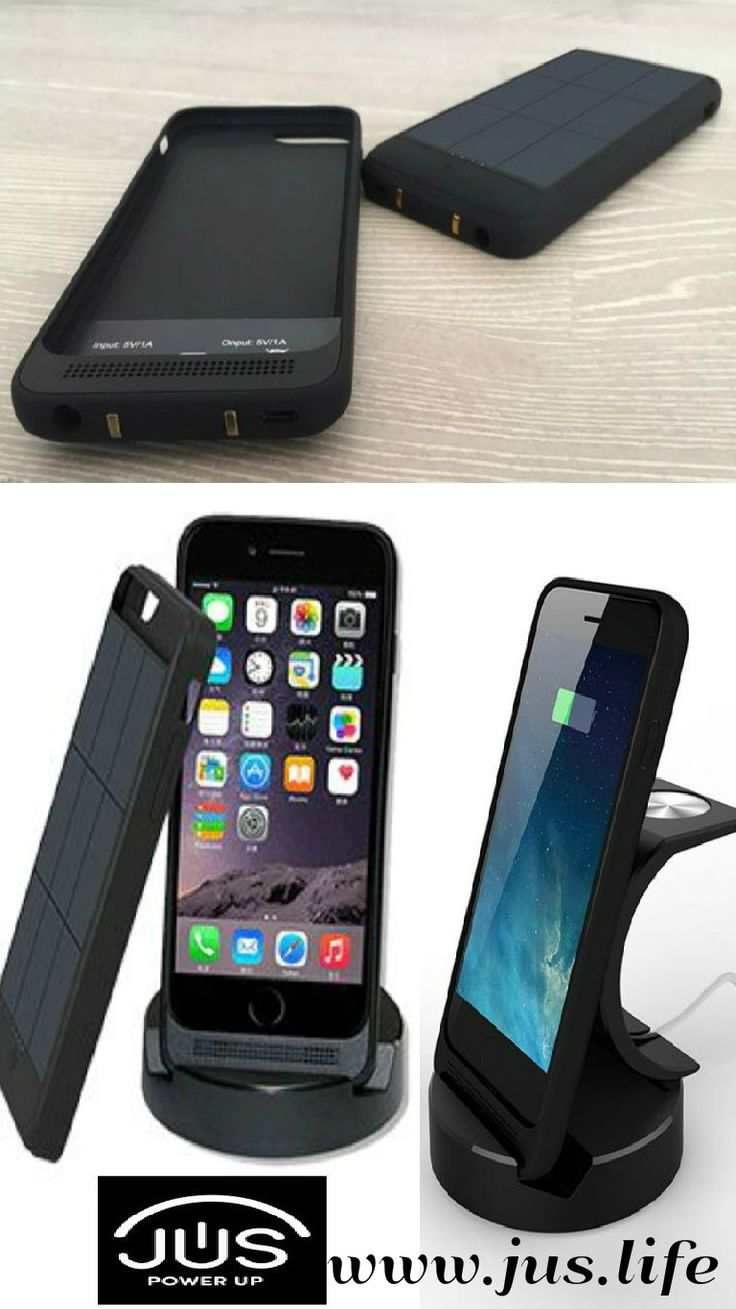 JUS: A Solar Case/Charger that Never Runs Out of Power Ever! JUS looks beautiful, ultra thin and fits your iPhone like skin without adding unnecessary bulk and feels like it is barely there yet built rugged, durable and drop safe to protect your phone. For more details please visit https://www.indiegogo.com/projects/jus-your-iphone-will-never-run-out-of-power-again/x/12801506#/