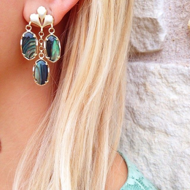 Byron Long Earrings In Abalone S Kendra Scott Jewelry Ü Pinterest And