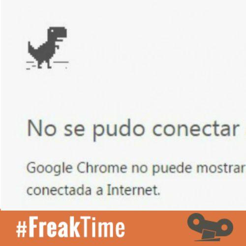 Hemos descubierto algo MUY guay con el dino de la pantalla de no conexión de Google Chrome: 1) Desactiva tu conexión a #Internet 2) Entra en el navegador 3) Dale a la barra espaciadora y flipa   #Freaktime: https://www.facebook.com/contestomatik/posts/595969137200069