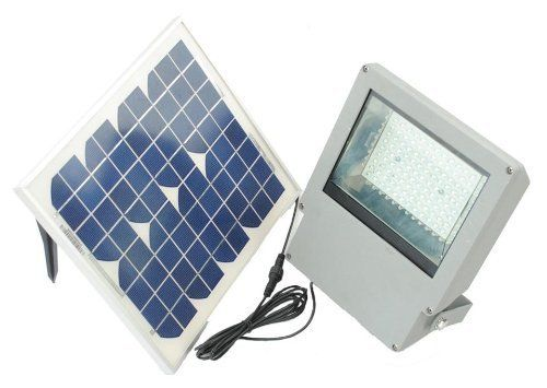 Solar Goes Green 2-Piece Outdoor Solar Flood Lights by SOLAR GOES GREEN. $349.99. Die Cast Aluminum Case. Easy To Install 2 Piece Design. Great for Yards, Farm, Commercial, Industrial and Sign Lights. 150 Watts High Power Solar Flood Light. Auto On / Off. Solar Goes Green 2-Piece Outdoor Solar Flood Lights. Harness the power of the sun! This fantastic 2-piece outdoor flood light is the perfect solution for your commercial or high demand flood light needs. The Goe...
