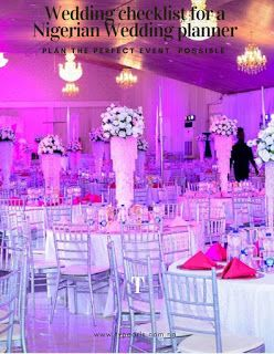 Wedding checklist! 10 factors A nigerian wedding planner should consider to plan a Budget wedding  1. Venue -Parking - Security - Seating arrangement   2. Food and drinks - Small chops - Local dishes - Continental dishes - Chinese - Cakes -Desserts 3. Decor - Lighting - Stage design  4. Music and Entertainment 5. Wedding Personnel - Ushers - Bouncers6. Clothing and fashion accessories - Brides dress - Grooms and Groomsmen suits - Bridal train outfits - Shoes jewelry accessories |(ties belts…