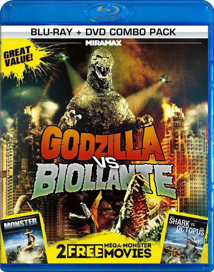 Godzilla vs. Biollante / Monster / Mega Shark vs. Giant Octopus Blu-ray