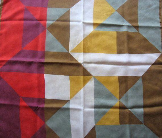 Scarf in Handbag Gift Package geometric @PumpjackPiddlewick on Etsy
