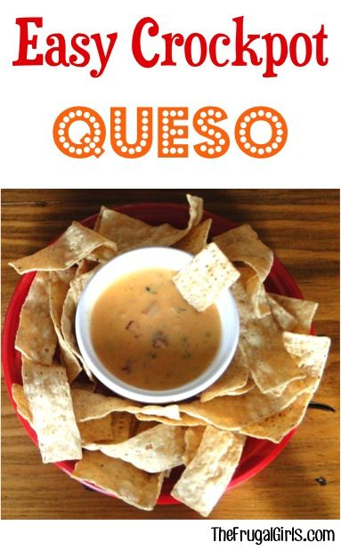 Easy Crockpot Queso Recipe! ~ from TheFrugalGirls.com ~ this simple Slow Cooker dip is such a crowd-pleaser! #dips #slowcooker #recipes #thefrugalgirls