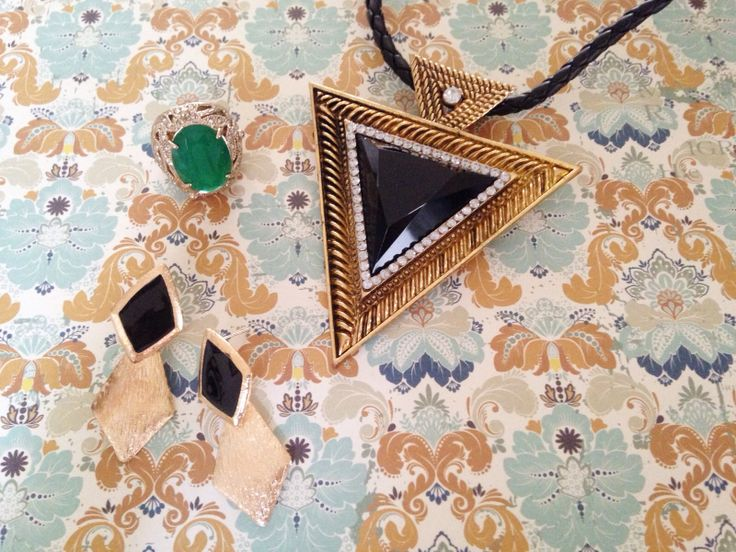 Vorace necklace, Emerald Ring and Druthers Earrings from Wanderlust Collection.