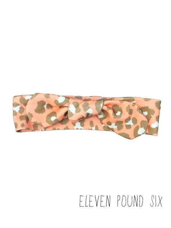 Organic cotton multi coloured sprinkles print bow knot topknot headband