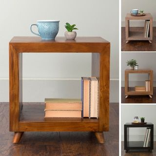 Coaster Company Mid-Century Modern Brown and Glass Occasional End Table - Free Shipping Today - Overstock.com - 19036013