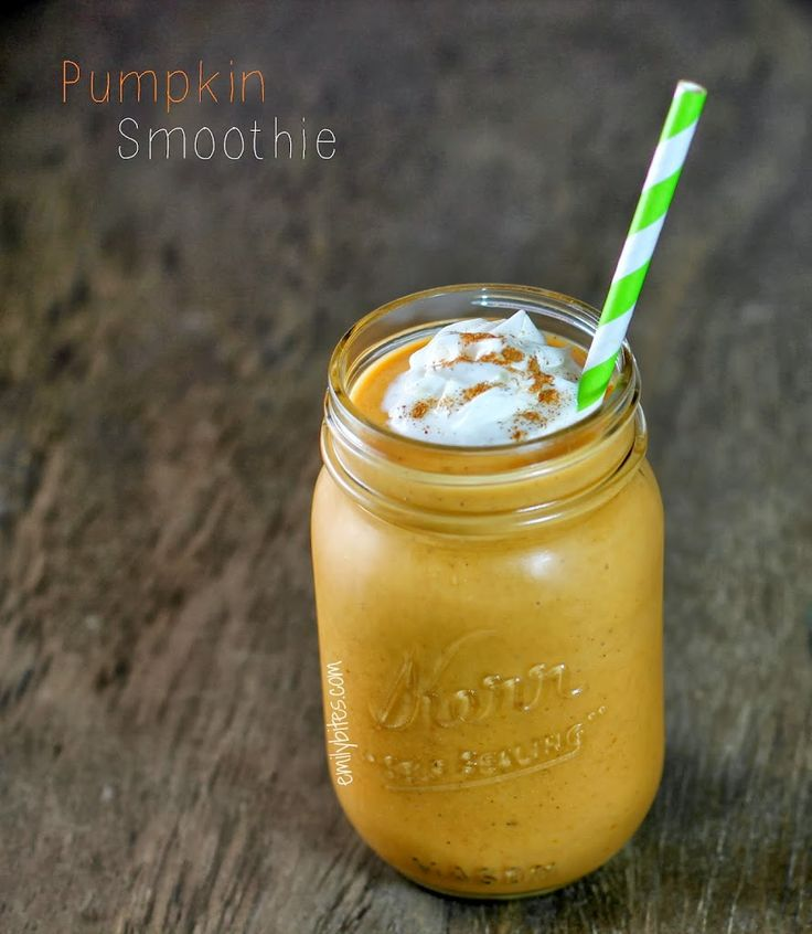 It's pumpkin season! I saw the original version of this recipe in Food Network magazine and I was intrigued. I've used pumpkin in a lot of ways, sweet and savory, but I've never thought of making it into a smoothie. A latte or a milkshake? Sure. But a smoothie? Nope…and mixing it with banana? Interesting. …