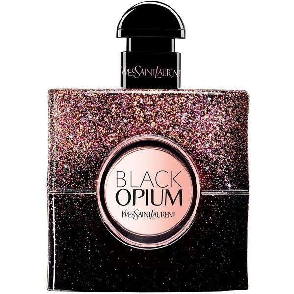 YSL Black Opium Firework (EDP) ($95) ❤ liked on Polyvore featuring beauty products, fragrance, blossom perfume, flower perfume, flower fragrance, yves saint laurent fragrance and eau de parfum perfume