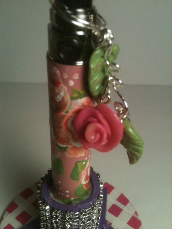 E Cigarette Rose Charm Handsculpted Clay  ecig charm by GirlyVapes, $9.00