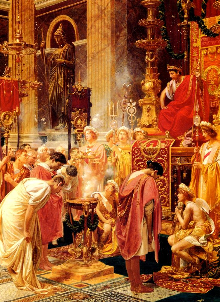 Alessandro Pigna (1883-1903)Paying Homage To The Emperor