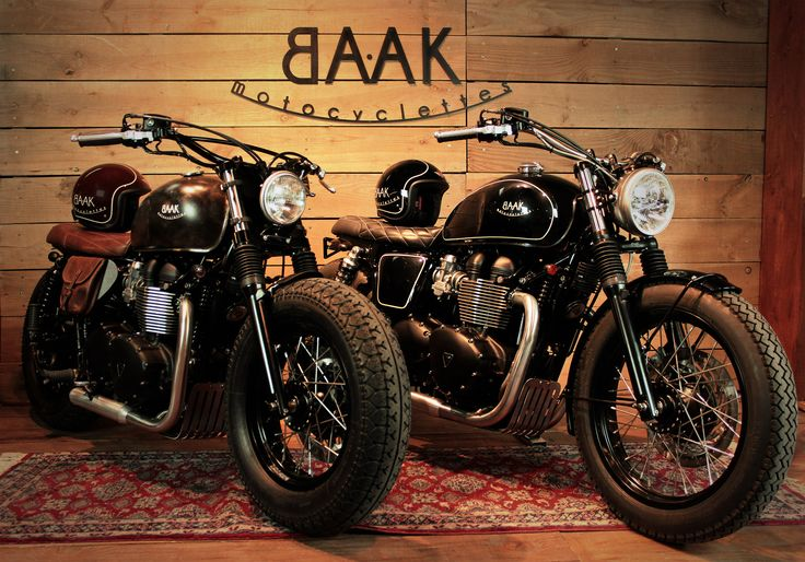 Two Triumph Bonneville created for a couple that has good taste.